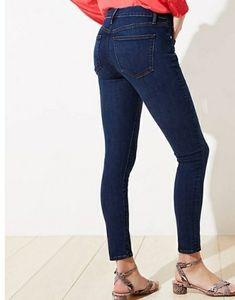 NWT LOFT Plus Size Indigo Skinny Crop Denim Jeans
